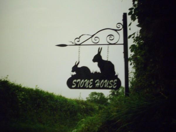 Rabbits House Sign