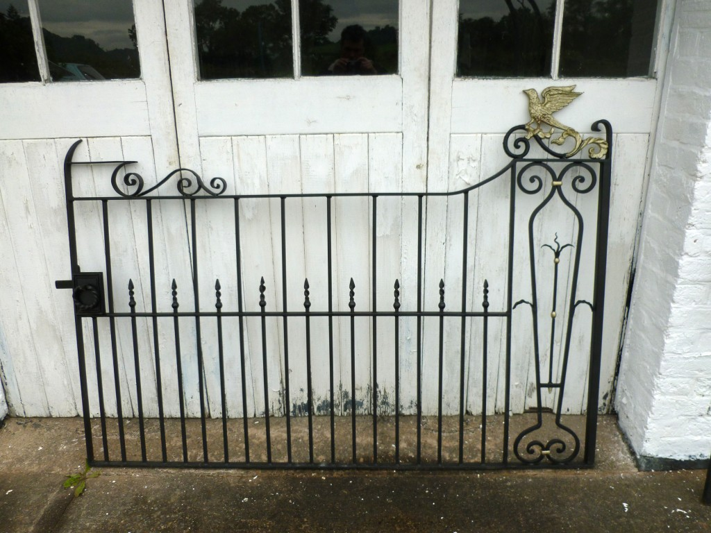 Bespoke garden gates and railings double single round gate