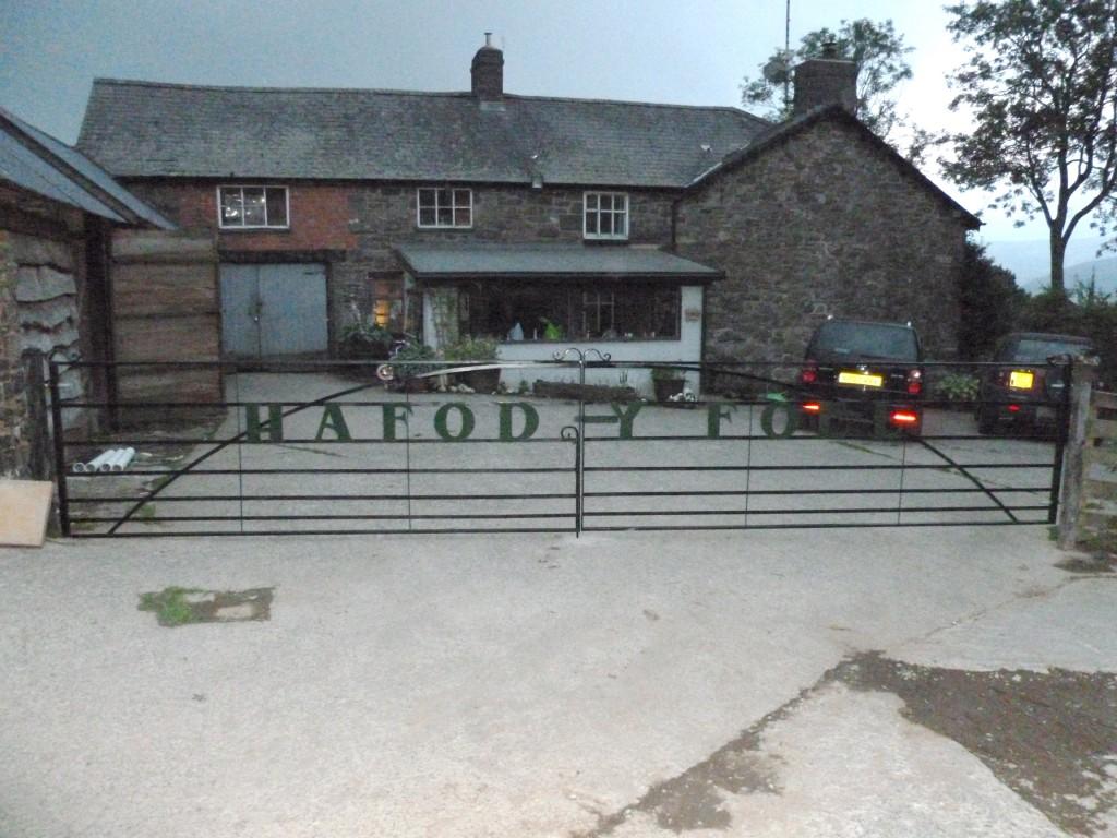 Double Wrought Iron Gates for Farm