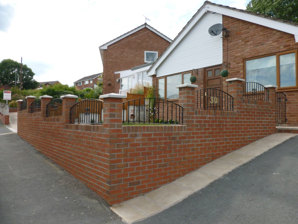 Modern Garden Railings with inset Number