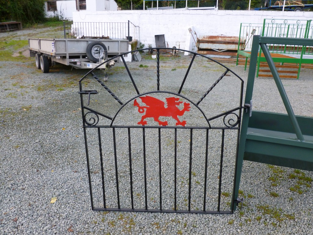 Gate with inset Red Dragon