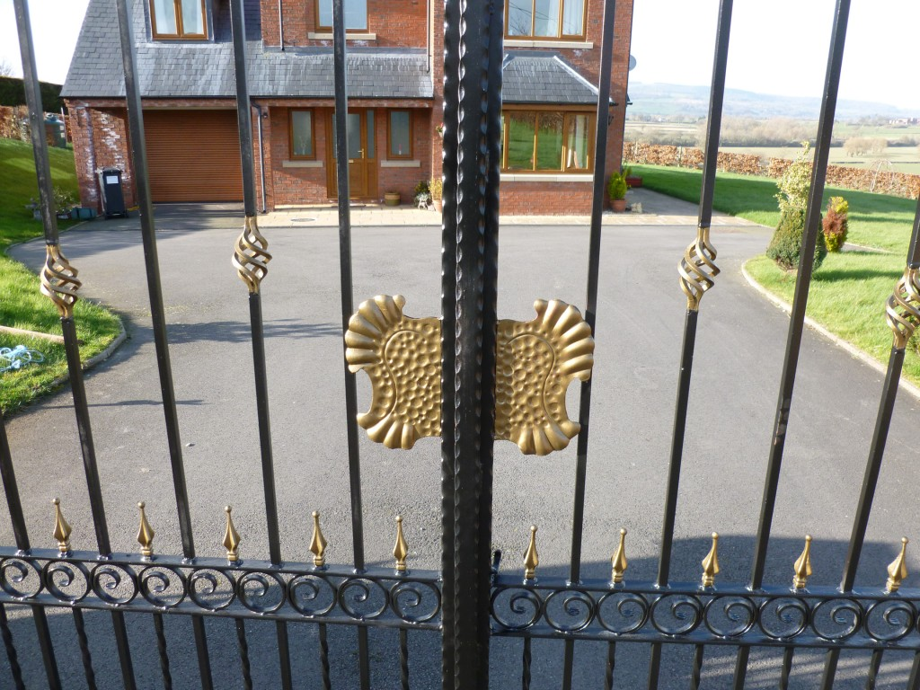 Ornate Black and Gold Gates and Railings