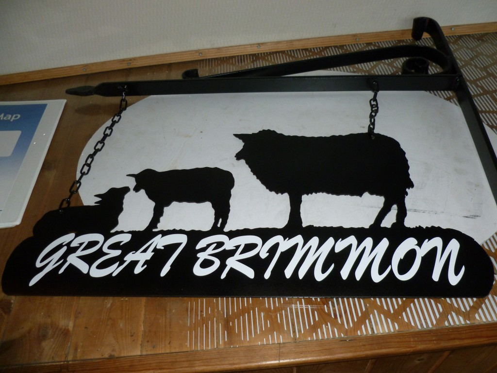 Sheep and Lambs Hanging House Sign
