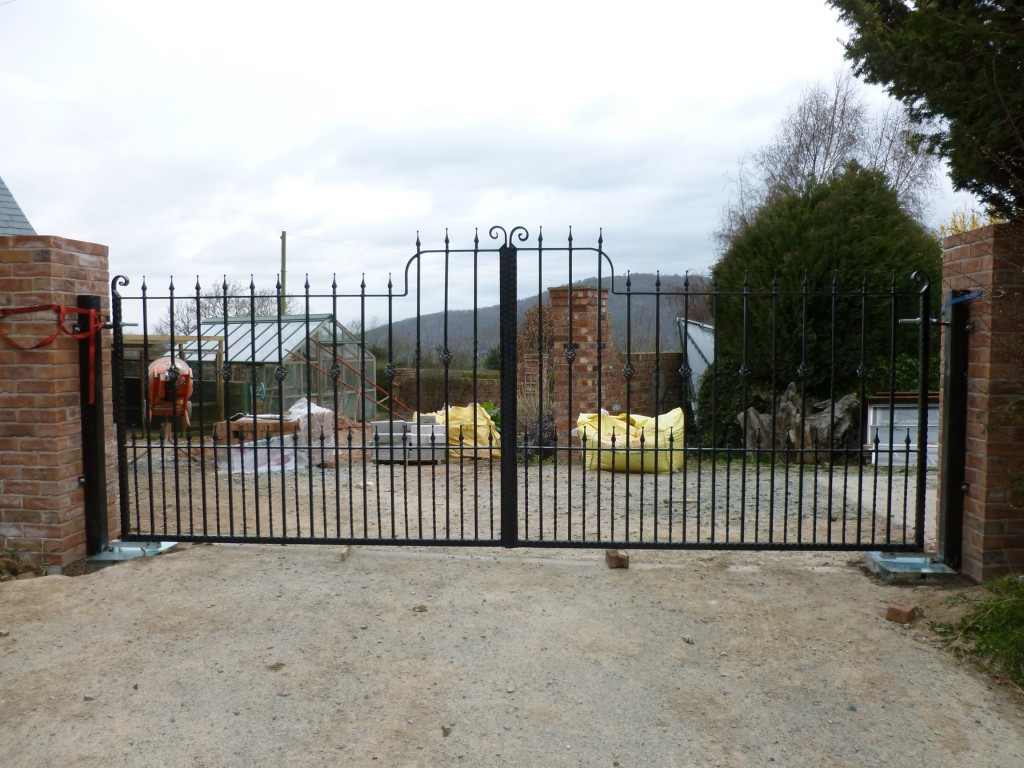 Ornate Black Double Gates
